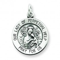Our Lady of Perpetual Help Medal in Sterling Silver