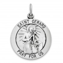 Saint Gerard Medal in Sterling Silver