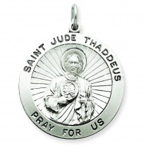 Saint Jude Thaddeus Medal in Sterling Silver