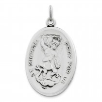 St Michael Medal in Sterling Silver