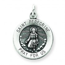 St. Peregrine Medal in Sterling Silver