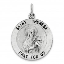 St Theresa Medal in Sterling Silver