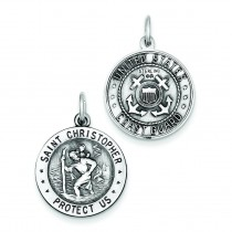 St Christopher US Coast Guard Medal in Sterling Silver