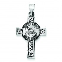 US Coast Guard Cross in Sterling Silver