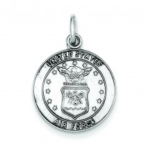 US Air Force Medal Charm in Sterling Silver
