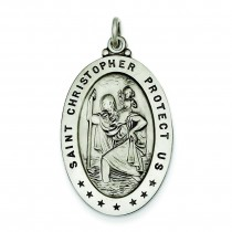 St Christopher Medal in Sterling Silver