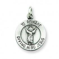 Divino Nino Medal in Sterling Silver