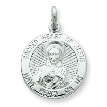Sacred Heart of Jesus Medal in Sterling Silver