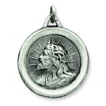Jesus Medal in Sterling Silver