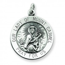 Our Lady of Mount Carmel Medal in Sterling Silver