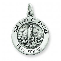 Our Lady of Fatima Medal in Sterling Silver