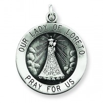 Our Lady of Loreto Medal in Sterling Silver