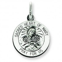 Sacred Heart of Mary Medal in Sterling Silver