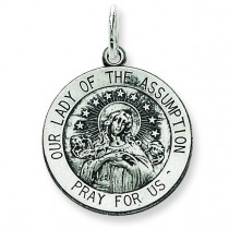 Our Lady of the Assumption Medal in Sterling Silver