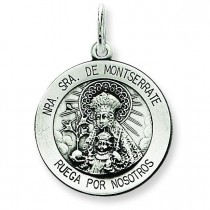 Montserrate Medal in Sterling Silver