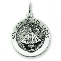 San Juan Los Lagos Medal in Sterling Silver