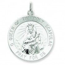 The Holy Scapular Medal in Sterling Silver