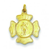 St Florian Fireman's Badge Medal in Sterling Silver