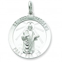 St Jude Thaddeus Medal in Sterling Silver