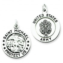St Michael Army Medal in Sterling Silver