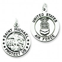 St Michael Air Force Medal in Sterling Silver