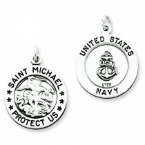 St Michael Navy Medal in Sterling Silver