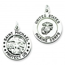 St Michael Marine Corp Medal in Sterling Silver