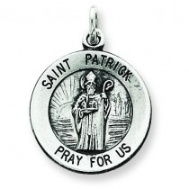 Saint Patrick Medal in Sterling Silver