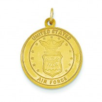 US Air Force St Christopher Medal in 14k Yellow Gold