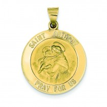 St Anthony Medal in 14k Yellow Gold