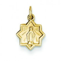 Blessed Mary Charm in 14k Yellow Gold