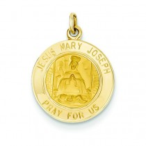 Jesus Mary Joseph Medal in 14k Yellow Gold