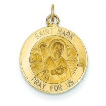 St Mark Medal in 14k Yellow Gold