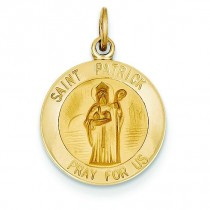 St Patrick Medal in 14k Yellow Gold