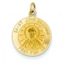 St John Neumann Medal in 14k Yellow Gold