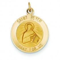 St Peter Medal in 14k Yellow Gold