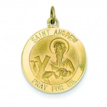 St Andrew Medal in 14k Yellow Gold
