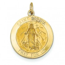 St Martha Medal in 14k Yellow Gold