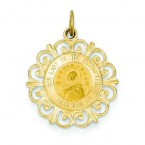 Our Lady Of The Assumption Medal in 14k Yellow Gold