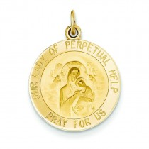 Our Lady Of Perpetual Help Medal in 14k Yellow Gold