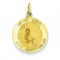 Infant Jesus Medal in 14k Yellow Gold
