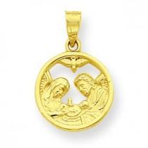 Nativity Charm in 10k Yellow Gold