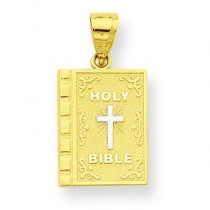 Holy Bible Charm in 10k Yellow Gold