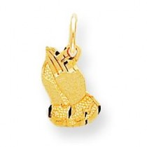 Praying Hands Charm in 10k Yellow Gold