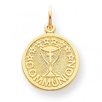 Communion Charm in 10k Yellow Gold