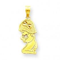 Praying Girl Charm in 10k Yellow Gold
