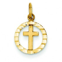Eternal Life Communion Cross in 14k Yellow Gold