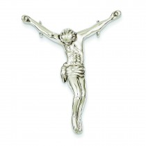 Jesus Corpus Charm in 14k White Gold