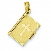 Lord Prayer Bible Pendant in 14k Yellow Gold