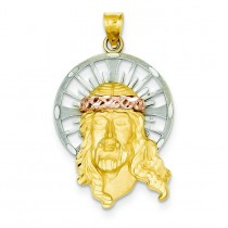 Christ Charm in 14k Tri-color Gold